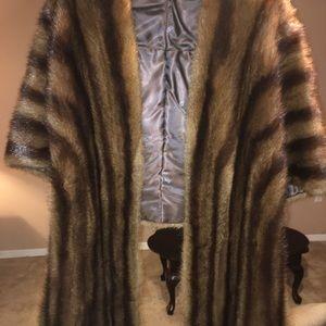 Mink shawl/shoulder cover